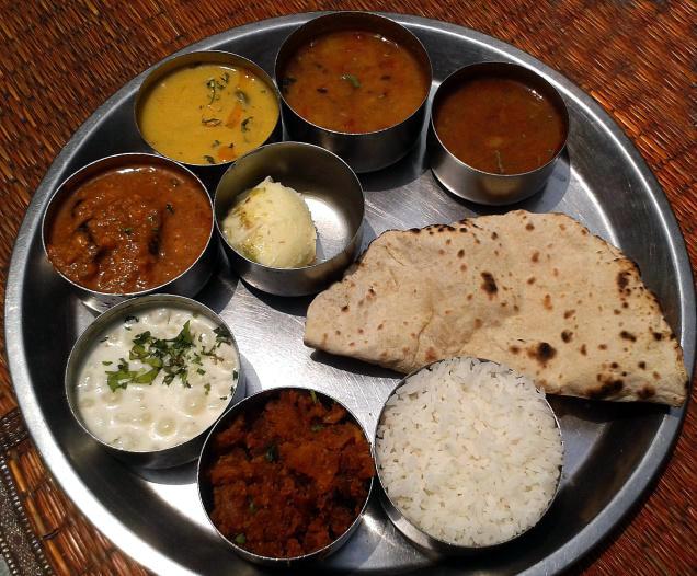 Thali at Maharashtra Sadan New Delhi