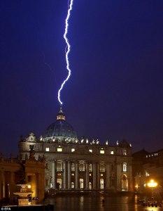 St Peter and Lightening
