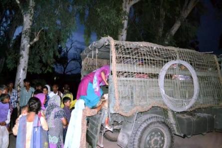 pak shelling army evacuates vill