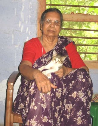 My Mom with her favourite Cat