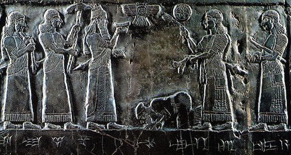 Jehu at feet of Shalmaneser