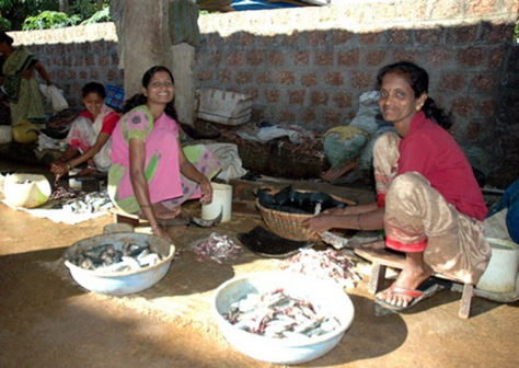 Indian fish sellers