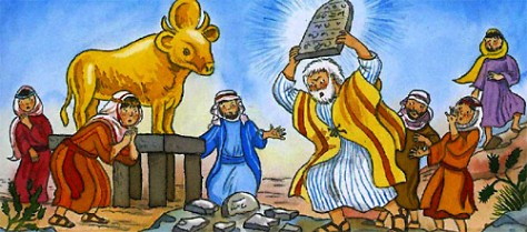 the golden calf and Moses
