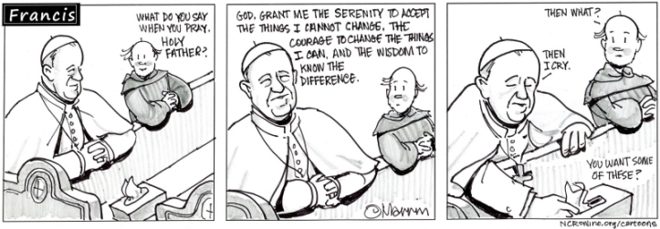 The pope and the Serenity prayer