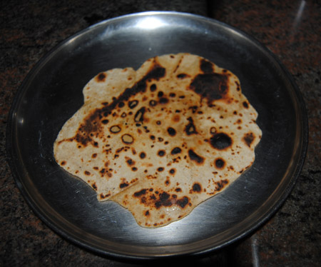 burnt chapati