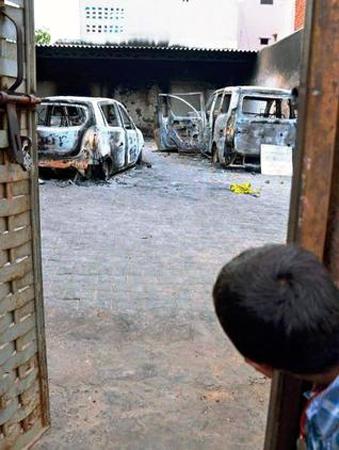Muslim family Cars burnt in Haryana in India
