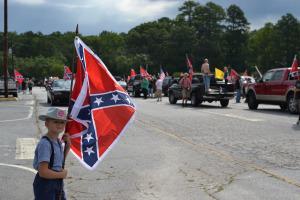 boy with confederate flag