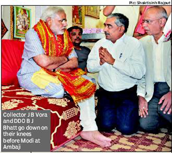 how modi treats his officers