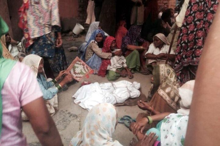 Tots die in caste violence