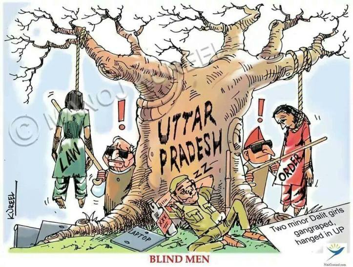 Cartoon on Rapes in UP
