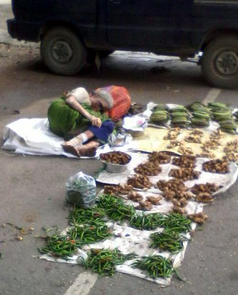 Indian Vegetable seller