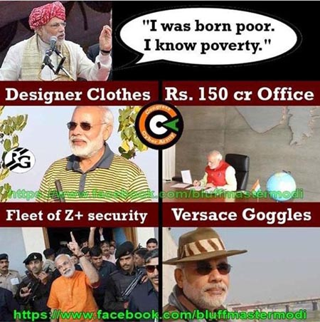 modi does himself well