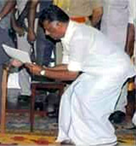 Ex chief minister of TN