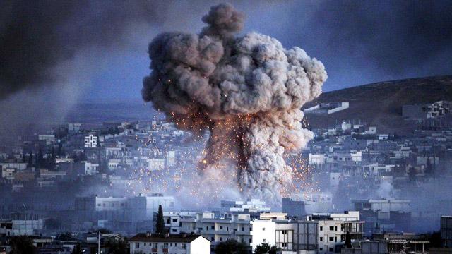 NOT an air strike but ISIS car bomb