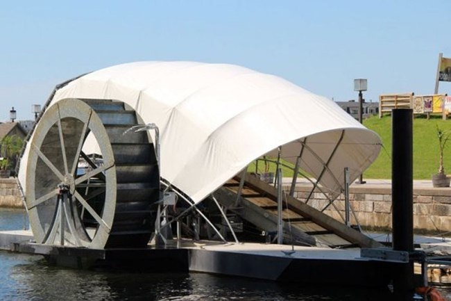 "The Inner Harbor Water Wheel, or ""Mr. Trash Wheel"""