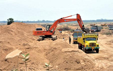 Govt sponsored Looting of River sand B