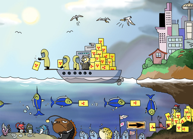 Nuclear Waste Cartoon
