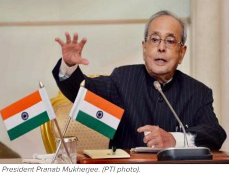 Indian President Pranabh Mukherji