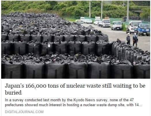 Unburied Nuc Waste in Japan