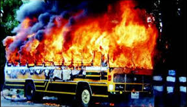Bus burning b