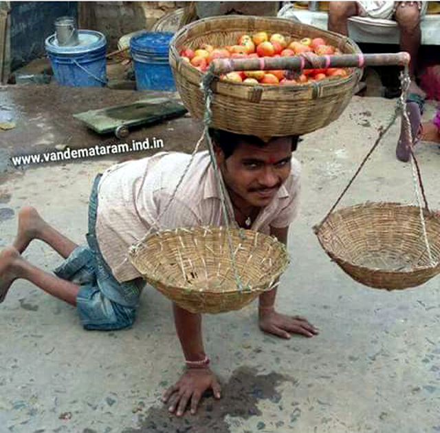 Handicapped Veg seller