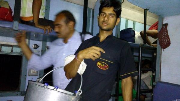 Vendor on Indian train