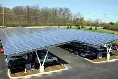 Solar panelled Car parking