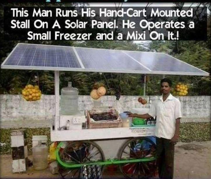 Vendor and solar panels
