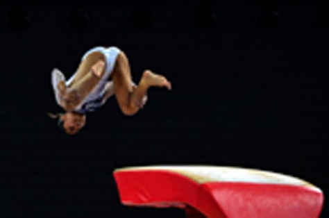 Dipa Karmakar of India performs in the women's vault final of the Artistic Gymnastics event during the 2014 Commonwealth Games in Glasgow, Scotland, on July 31, 2014. AFP PHOTO / CARL COURT / AFP PHOTO / CARL COURT