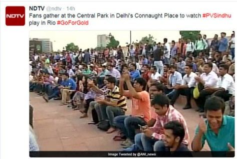 P V Sindhu fans