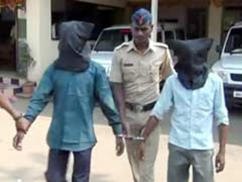 Rape accused face covered