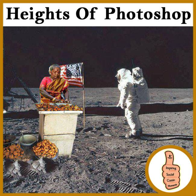 Vadai seller on the moon