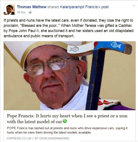 Pope Francis Cars